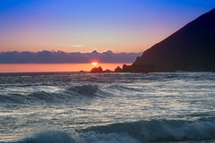 Pfeiffer Beach, Big Sur, April, 2005 (adamkmyers) Tags: bigsur pfeifferbeach pch sunset