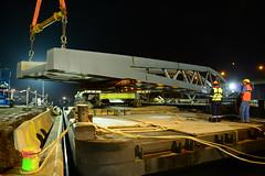 New pedestrian bridge DST_4146 (larry_antwerp) Tags: antwerpenmobiel ijzerlaan voetgangersbrug fietsbrug albertkanaal merksem roroiii victrol aertssen besix antwerp antwerpen       port        belgium belgi          ponton pontoon roroii