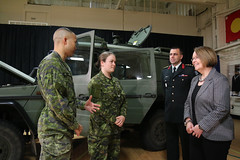BC government supports military reserve forces (BC Gov Photos) Tags: shirleybond military camo camouflag humvee jeep