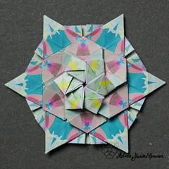 Iimori Astra B (Day 52) (Yureiko) Tags: yureiko tessellation papierfalten papier origami paperfolding paper