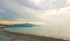 Welsh Coast line (sab89) Tags: welsh coast irish sea beach hills wales coastal walk aberystwyth rolling stoney