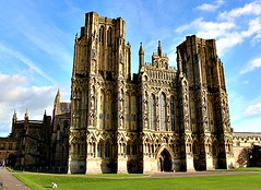 Wells Cathedral, Somerset (Peter Denton) Tags: wellscathedral religion christianity architecture cathedralchurch 12thcentury ©peterdenton somerset westcountry england greatbritain unitedkingdom westfront mendiphills anglicancathedral