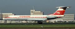 Tu-134 | D-AOBL | AMS | 19901013 (Wally.H) Tags: tupolev 134 tupolev134 tu134 daobl interflug ams eham amsterdam schiphol airport