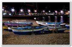 Las Palmas de G. Canaria.. (JLuis San Agustn) Tags: 2014 canarias laspalmas mar barcas nocturnas