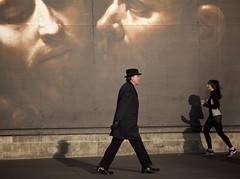 4 (madbharat) Tags: madbharat street man hat london trafalgar square light poster national academy