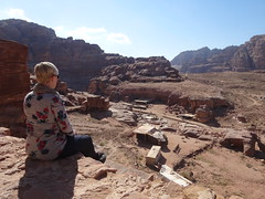 Uitzicht vanaf de Royal Tombs over Petra