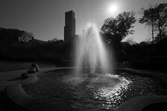 Conservancy Fountain _ bw (Joe Josephs: 2,861,655 views - thank you) Tags: centralpark nyc newyorkcity travel travelphotography outdoorphotography landscapephotography landscapes urbanparks urbanlandscapes blackandwhitephotography blackandwhite water waterreflections