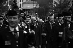 Remembering (Steve.T.) Tags: blackandwhite faces people bnw mono remembranceday remembrance witham essex oldman oldsoldier poppy poppyday remembrancesunday nikon d7200 sigma18200 bagpipes parade remembranceparade sombre