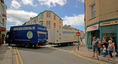 A big lorry and a narrow street. Aberystwyth. Wales (Minoltakid) Tags: aberystwyth wales westwales ceredigion unitedkingdom aber lorry transport chalybeatestreet chalybeatest chalybeate street streetphotography streetscence people clouds 2016 biglorry moment buildings town historictown welshtown colourfulbuildings sign groupofpeople day flickr geotagged outside tightfit interestingmoment watching towncentre ohdear yellowlines windows colourful oopsmoment narrowstreet longlorry theminoltakid minoltakid rossdevans rossevans