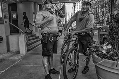 Walnut Street, 2016 (Alan Barr) Tags: police walnutstreet philadelphia 2016 street sp streetphotography streetphoto blackandwhite bw blackwhite mono monochrome candid people ricoh gr