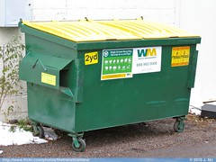 Waste Management Recycling Dumpster (TheTransitCamera) Tags: wm wastemanagement trash garbage wate refuse collection system container truck