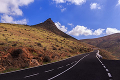 Road to nowhere (sai_ben89) Tags: fuerteventura love hate red nature landscape road canon sky mountain