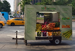 Fruits Of His Labor (MPnormaleye) Tags: columbuscircle foodtruck truck wagon food fruit vegetables foodie juice window utata urban city nyc manhattan taxi cab 24mm