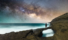 Kaihuokapua'a Bridge (Marvin Chandra) Tags: d600 24mm marvinchandra 2016 milkyway stars night astrophotography longexposure hawaii oahu hawaiikai hanaumabay kaihuokapuaa bridge rockbridge ocean pacificocean lavarocks