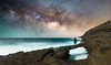 Kaihuokapua'a Bridge (Hawaiian Imagery) Tags: d600 24mm marvinchandra 2016 milkyway stars night astrophotography longexposure hawaii oahu hawaiikai hanaumabay kaihuokapuaa bridge rockbridge ocean pacificocean lavarocks