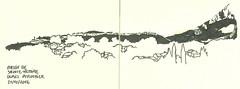 village de Puyloubier (Carnet de V) Tags: croquis sketch dessin moleskine vignes vignoble village montagne sainte victoire paysage relief grand site