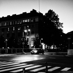 night street (s_inagaki) Tags: night street snap helsinki finland blackandwhite bnw bw