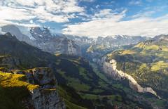 Lauterbrunnen Valley (TheDailyNathan) Tags: alps berneroberland berneseoberland jungfrau lauterbrunnen lauterbrunnenvalley mannlichen mountains mnnlichen sunrise swissalps switzerland tschuggen