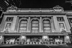 Grand Central Terminal (San Martin Photography) Tags: usa nyc newyorkny nightphotography grandcentralterminal canon5dmarkiii canonef1635mmf28liiusm manhattan bw 5dmk3 beauxarts corinthiancolumns mono historical landmark