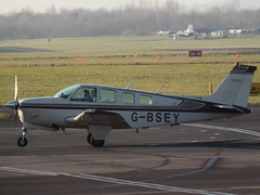 G-BSEY Beech Bonanza 36 (Aircaft @ Gloucestershire Airport By James) Tags: gloucestershire airport gbsey beech bonanza 36 egbj james lloyds