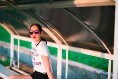 "(Isai Alvarado) Tags: vanesa model woman glasses lips smile portrait stock sunlight light soft street urban cute sun hair short legs field lovely sexy hot bokeh dof focus blur cine cinema cinematic film movie 85mm ""85mm f18 g"" nikon d800 isai alvarado ""isai fotografia"""