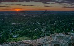 Boulder city at sunrise (biplav32) Tags: sunset sky lake clouds sunrise landscapes boulder