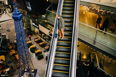 The Man on the Escalator. #Leica #Street (unTed) Tags: china street leica city people color 35mm beijing streetphotography documentary summicron f2 asph leicam leicam240
