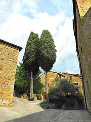 Montichiello, Il Borgo, The Ancient village (michele masiero) Tags: italia eu siena toscana valdorcia vicoli cipressi montichiello ilborgo fotosketcher ilborgodimontichiello