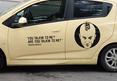 A Wicked Sedan (mikecogh) Tags: film face movie quote wicked travisbickle taxidriver hyundai glenelg getz wickedcampers