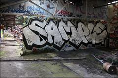 Sample (Alex Ellison) Tags: urban abandoned graffiti factory boobs warehouse sample graff derelict printers tgs urbex northlondon