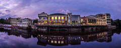 York in the Pink (Justin Cameron) Tags: york longexposure sky panorama water clouds canon reflections river waterfront riverside dusk yorkshire wideangle panoramic le press starburst riverouse yorkshireherald canonef1635mmf4lisusm canon5dmkiii