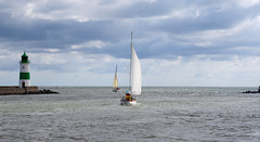 Sailing the Baltic (ido1) Tags: lighthouse wind sails balticsea baltic sail