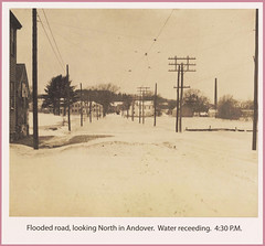 Flooded road, looking north in Andover, Mass. (State Library of Massachusetts) Tags: andovermassachusetts statelibraryofmassachusetts photographcollections flood1896