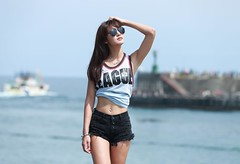 DPP_0027 (c0466art) Tags: blue light sea portrait sky beautiful beauty face female canon pose photography coach eyes energy asia pretty action outdoor body good taiwan health figure attractive motor charming elegant activity gym society keelung 1dx c0466art