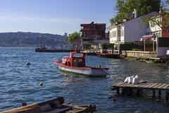 Boat (kaizerdar) Tags: blue red sea boat seaside istanbul mansion seashore teahouse sandal scutari engelky skdar naralt aybahesi cockleboat