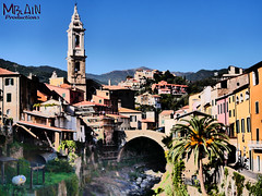 P1020143 (MBlain) Tags: old bridge italy beautiful architecture buildings palms liguria surreal panasonic hdr gh4 dolcedo surrealphotography awsomeshots