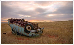 Car Wreck (tim_kavanagh) Tags: outback southaustralia hdr goldenhour terowie