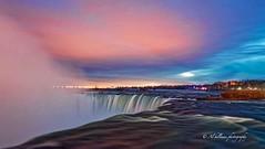 horseshoe-14-F (Al Hillman) Tags: longexposure blue red sky mist water sunrise niagarafalls niagara horseshoefalls