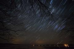 Star Trail Sihouettes (Zack Mensinger) Tags: nightphotography lake minnesota night nightshots startrails northernminnesota backus 2015 canon1740f4l lakesurface bigportagelake canon5dmarkii