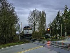 Vancouver, that way (Tony Tomlin) Tags: amtrak cascades levelcrossing crossingsignals npcu