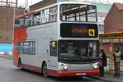 20151126 - 7013 - Aintree Coaches - Alexander ALX400 Trident - Reg No V220MEV - Chester - Bus Interchange (Paul A Weston) Tags: aintreecoaches alexanderalx400trident regnov220mev chesterbusinterchange