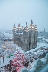 Salt Lake LDS Temple (Just Used Pixels) Tags: christmas winter snow temple lights utah saltlakecity mormon lds