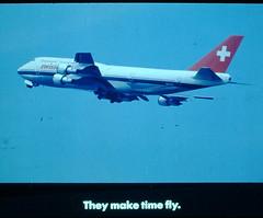 Vintage Found Photo - Swissair Filmstrip (Mark 2400) Tags: chicago promotion ohare boeing 747 filmstrip swissair