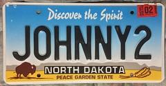 NORTH DAKOTA 2016 ---VANITY PLATE JOHNNY2 (woody1778a) Tags: north dakota usa america mycollection myhobby licenseplate numberplate vanity johnny plate personalized