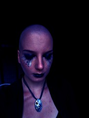 Blue silver. (Babyphoneshout) Tags: blue silver art tears cry crying bald shaved girl