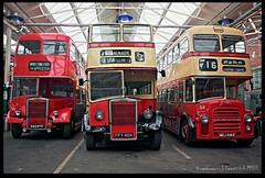 Leyland Double-deckers (zweiblumen) Tags: northwestmuseumofroadtransport sthelens merseyside england uk hdr doubledecker bus publictransport canoneos50d polariser zweiblumen 562rtf ffy404 mdj554e widnestowncentre appleton promenade parr dentonsgreen