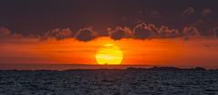 Colorful sunset II - D8E_5246 (Viggo Johansen) Tags: sunset colorfulsunset sea sky clouds red yellow blue rocks islands tungenes randabergkommune rogaland norway