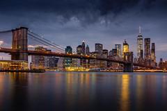 Downtown Manhattan (Braiu) Tags: brooklynbridge newyork bridge city light night urban brooklyn landscape urbanlandscape wow