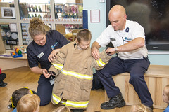 School Fire Talks (Cheshire Fire and Rescue Service) Tags: cheshire fire rescue service school pupils talk education prevention warrington firefighter safety demonstration