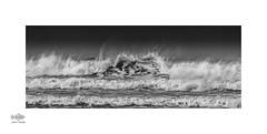 Wave action (silver/halide) Tags: waves surf water sea ocean atlantic atlanticocean atlanticcoast godrevy stivesbay cornwall kernow mono monochrome blackandwhite bw action d750 johnbaker easterly offshorewind gwithian